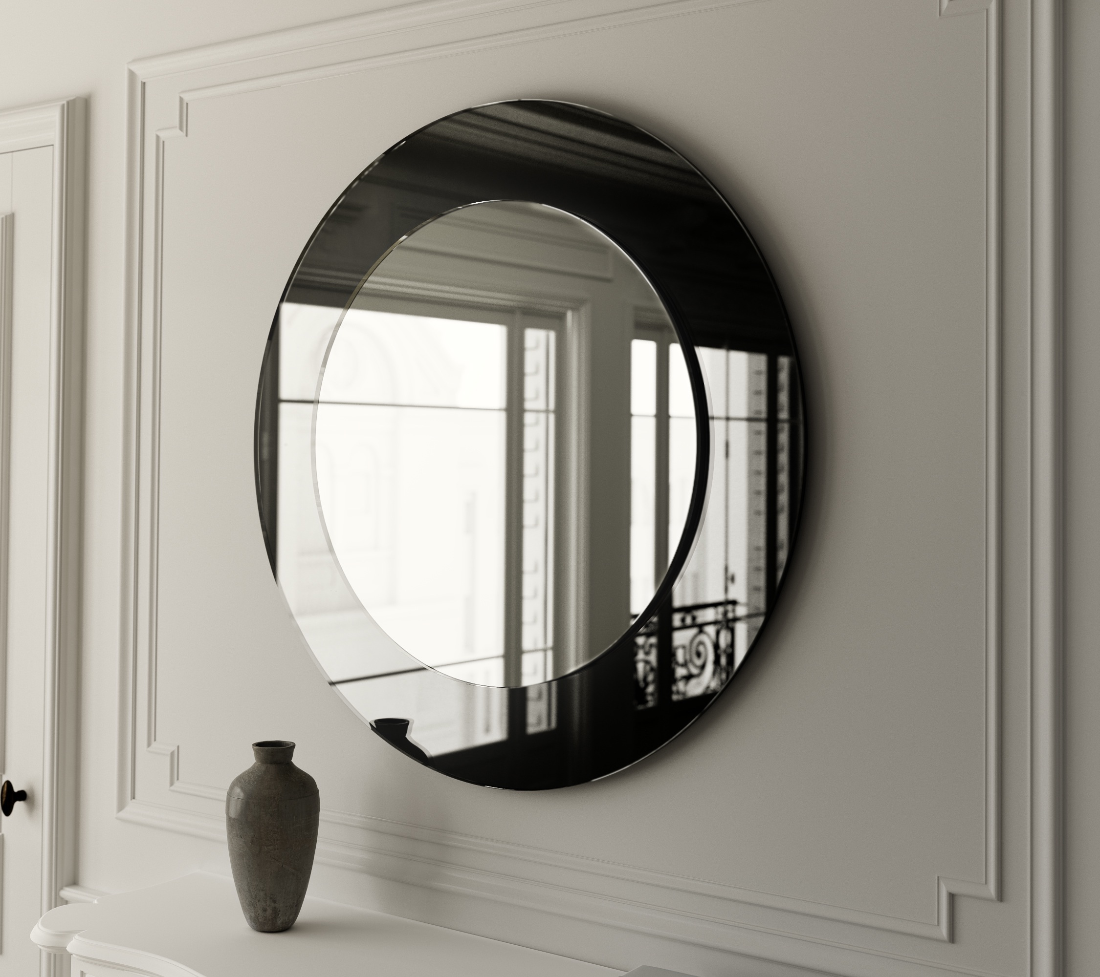 Black Art Deco Mirror