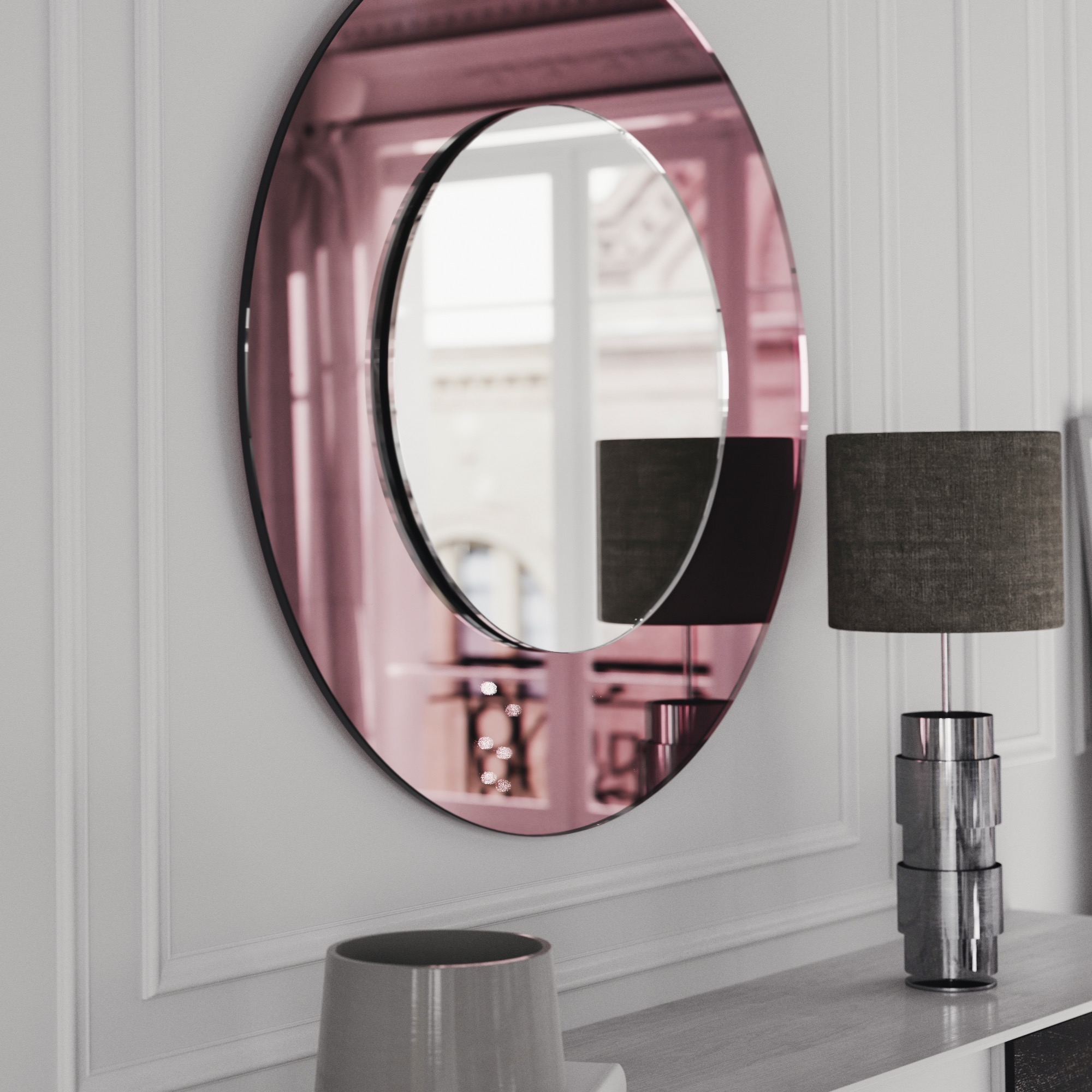 Art Deco Mirror photographed from the side