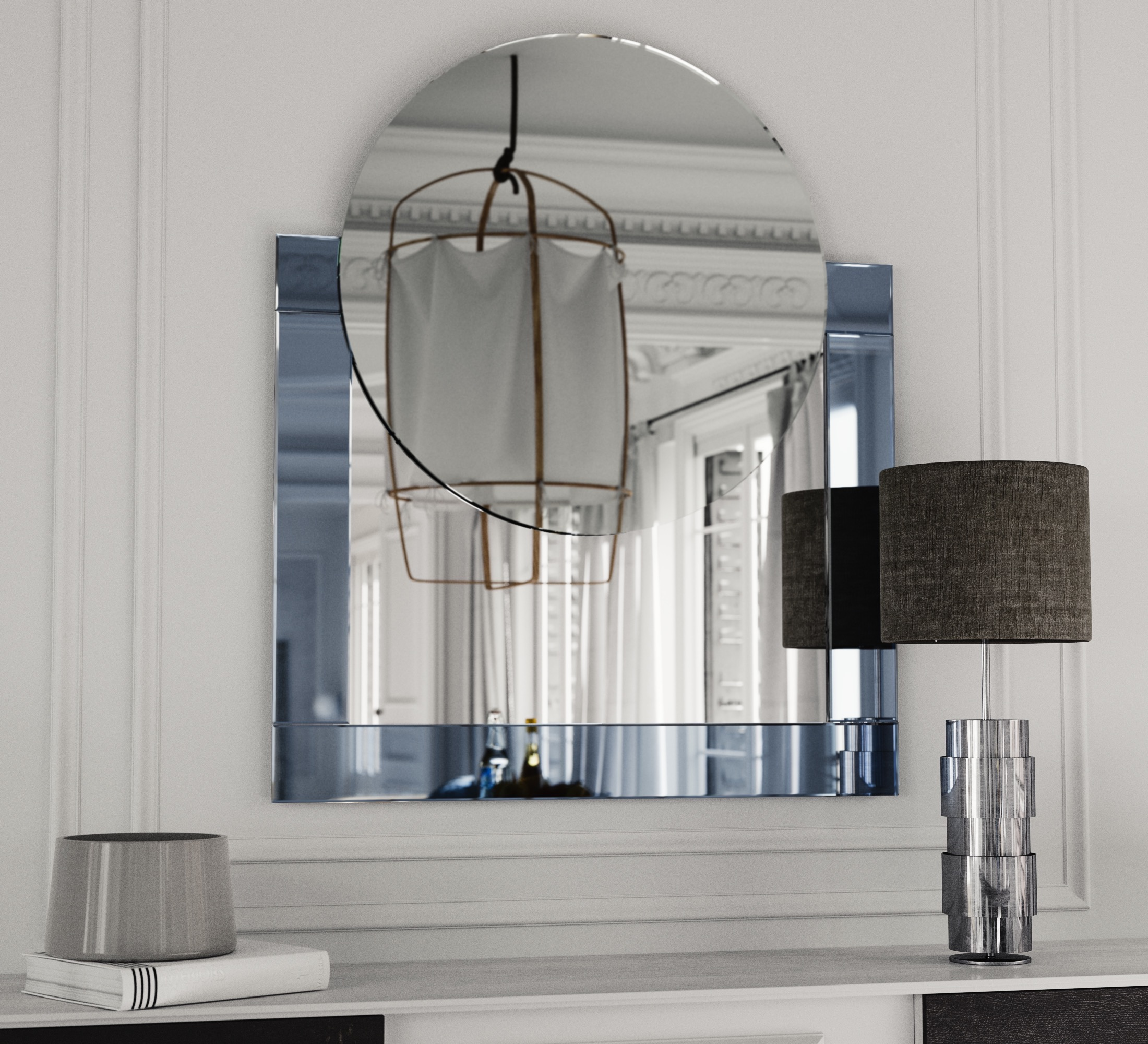 Art Deco Style Machine Mirror