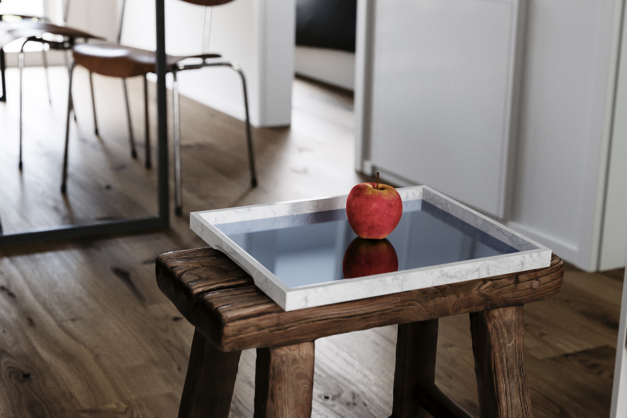 Marble Tray Photographed in Situation