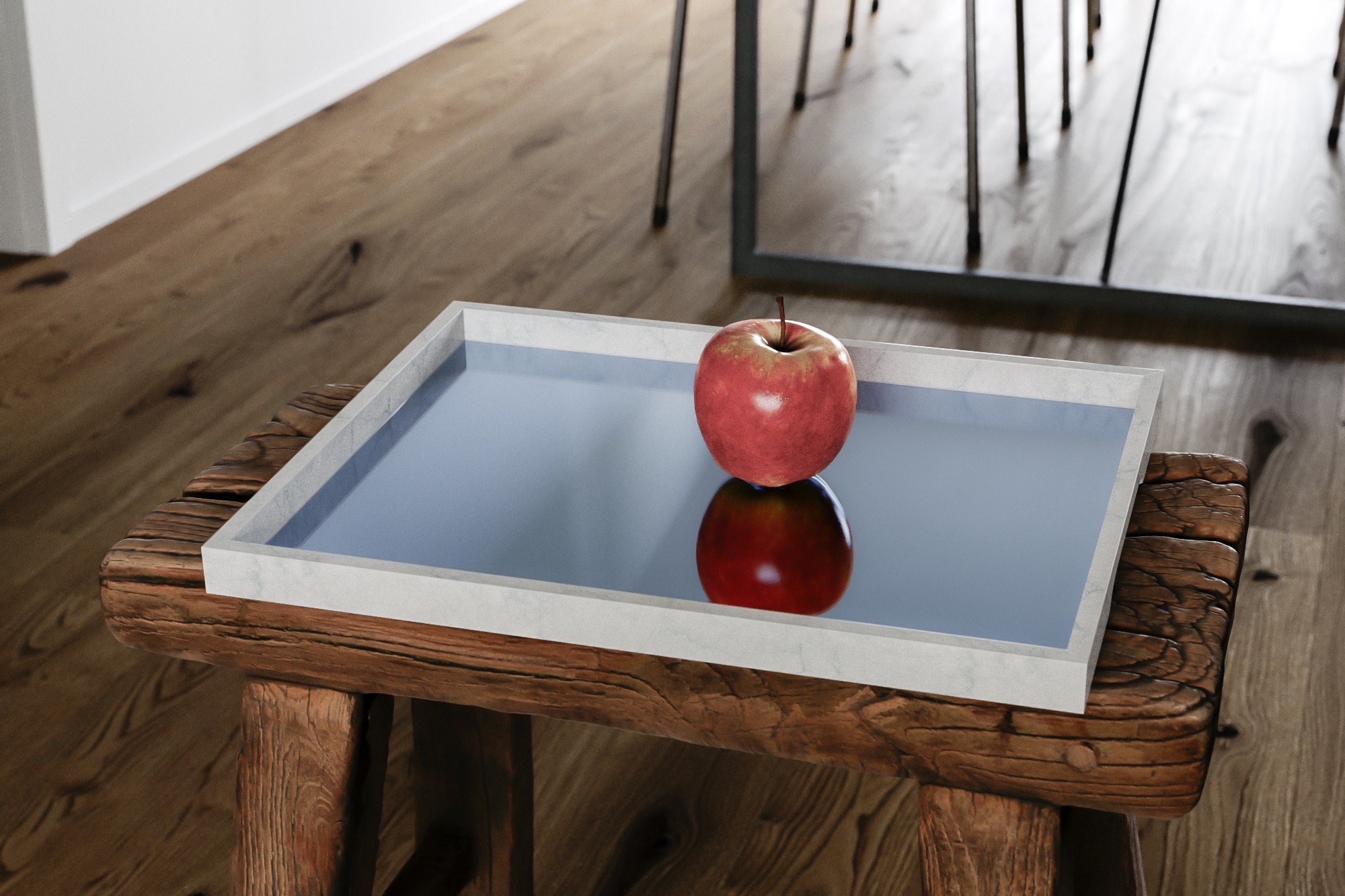 Another view of marble tray