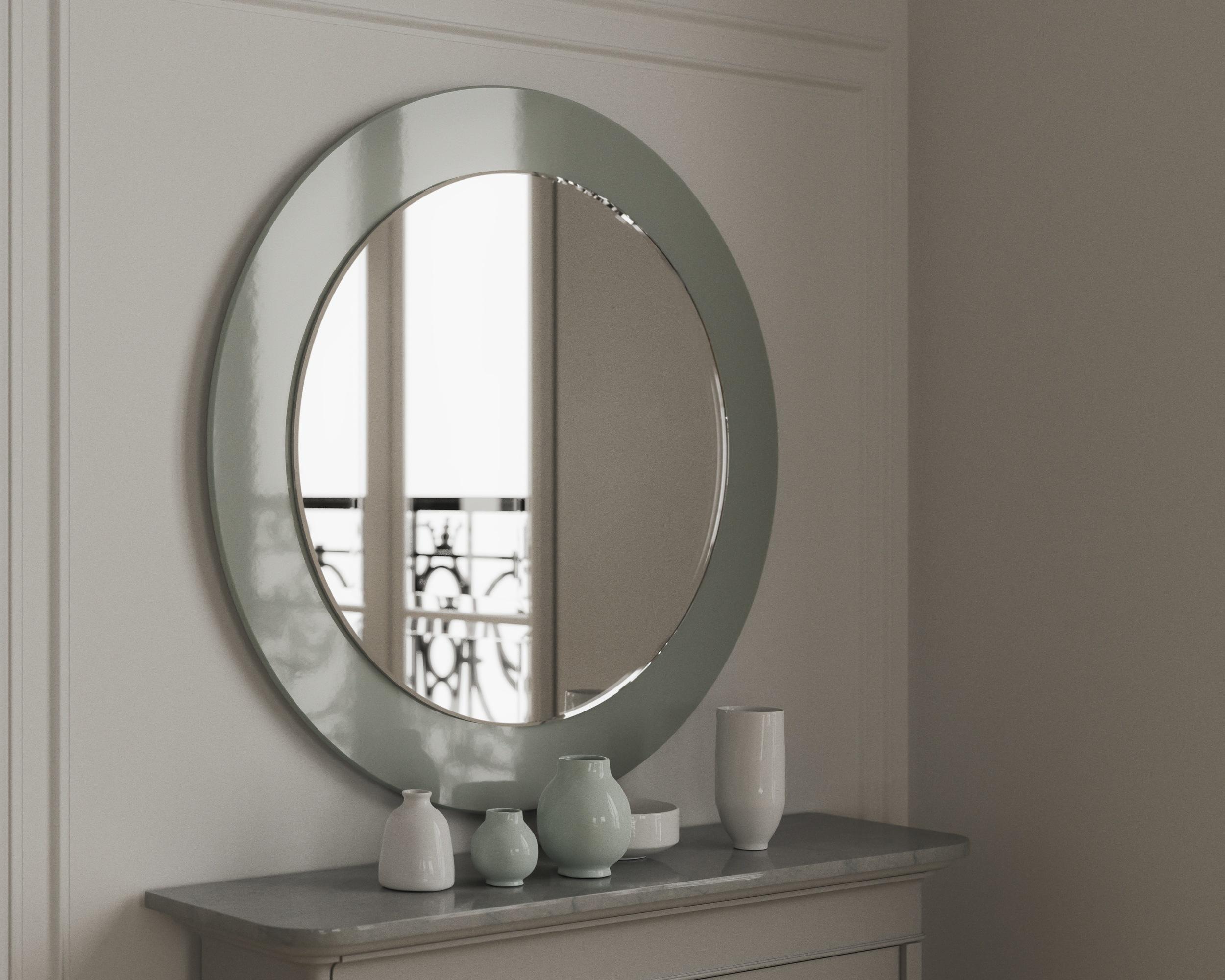 Green Round mirror