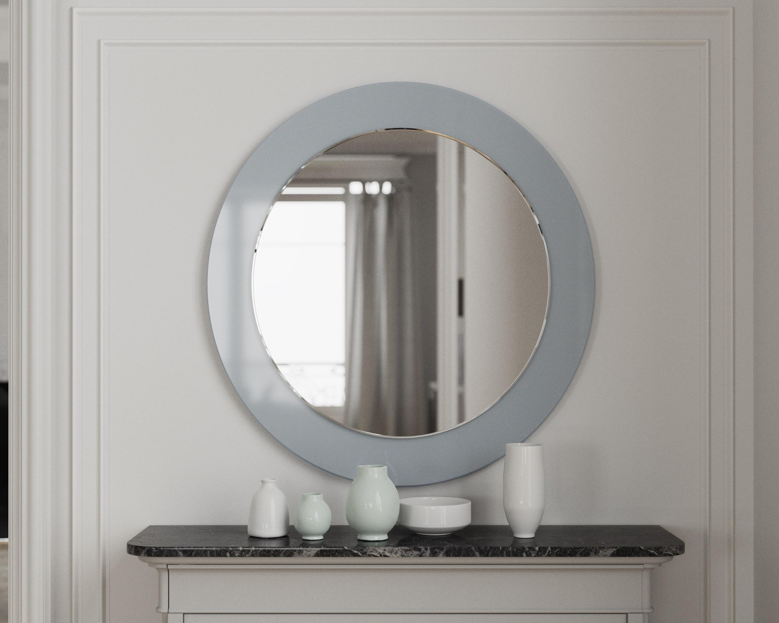 Blue version of round mirror