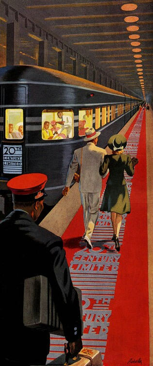 20th Century Limited Art Deco Poster
