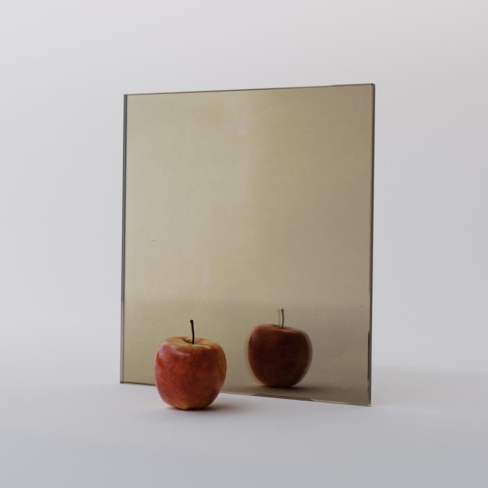 Slightly dark golden mirror sample