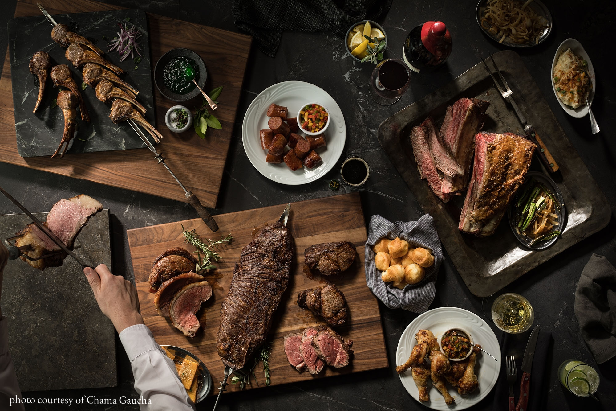Chamagaucha Brazilian Steakhouse - An all you can eat experience you and your sweetheart will love.