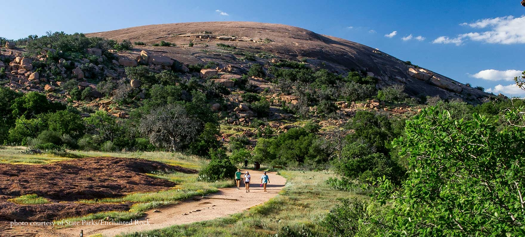Enchanted rock - Climb the beautiful dome for spectacular views of the Hill Country.