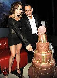 Jlo and Mark Anthony at the W-Hotel in DC for Mark's birthday celebration.