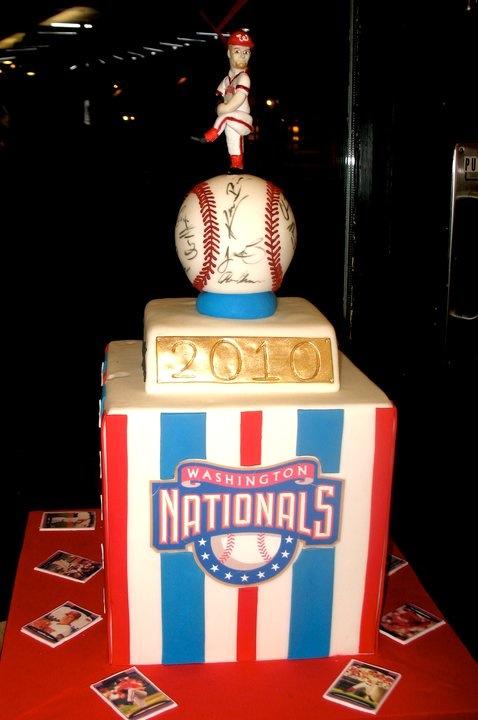 National's baseball groom's cake