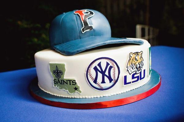 Sports lovers groom's cake