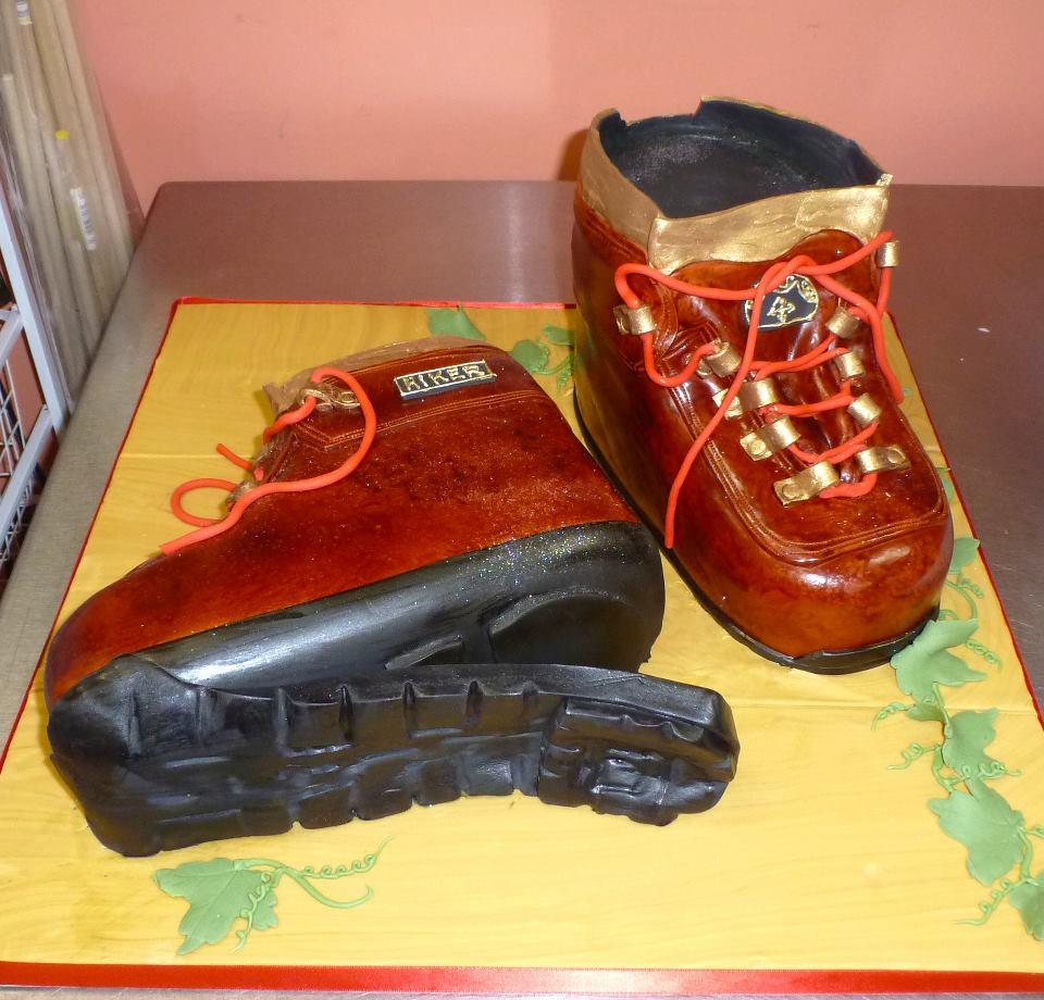 Hiking boots groom's cake