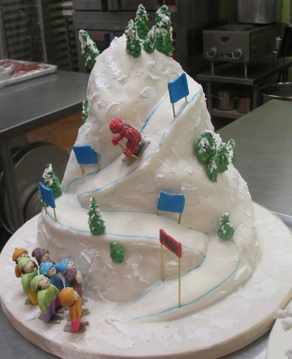 Ski mountain groom's cake