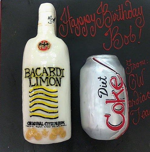 Rum and coke groom's cake
