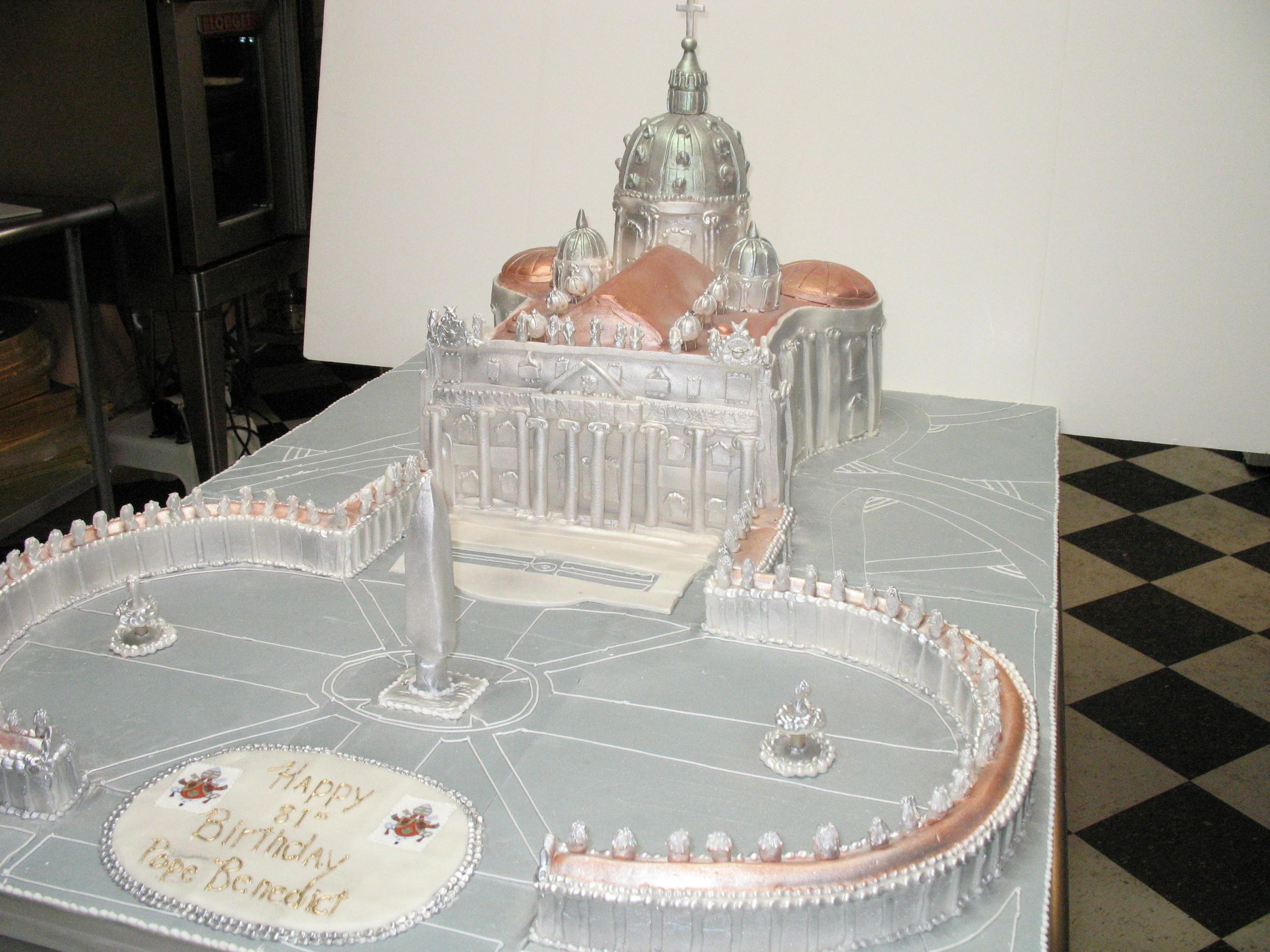 Pope Benedict's Birthday Cake