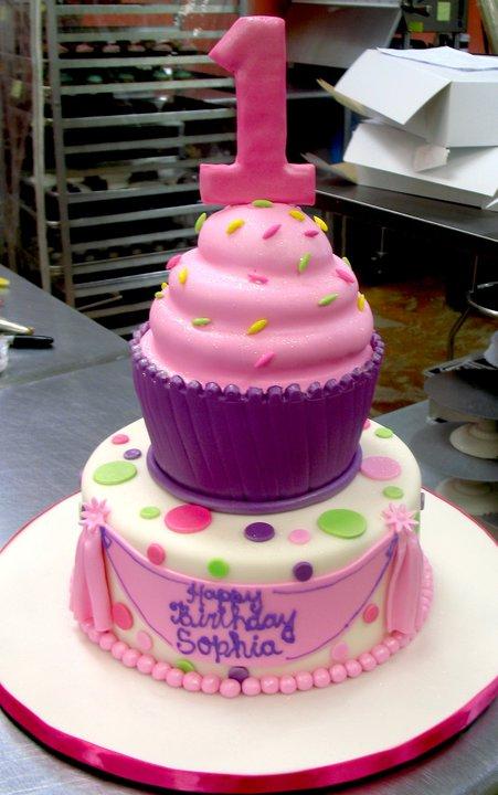 Adorable cupcake cake