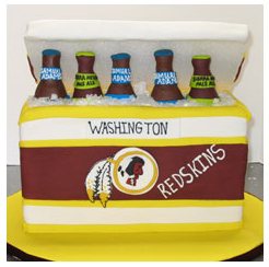Redskins Cooler Cake
