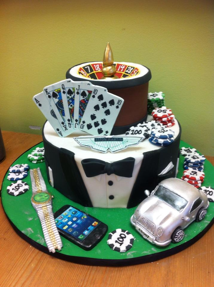 Gambling groom's cake