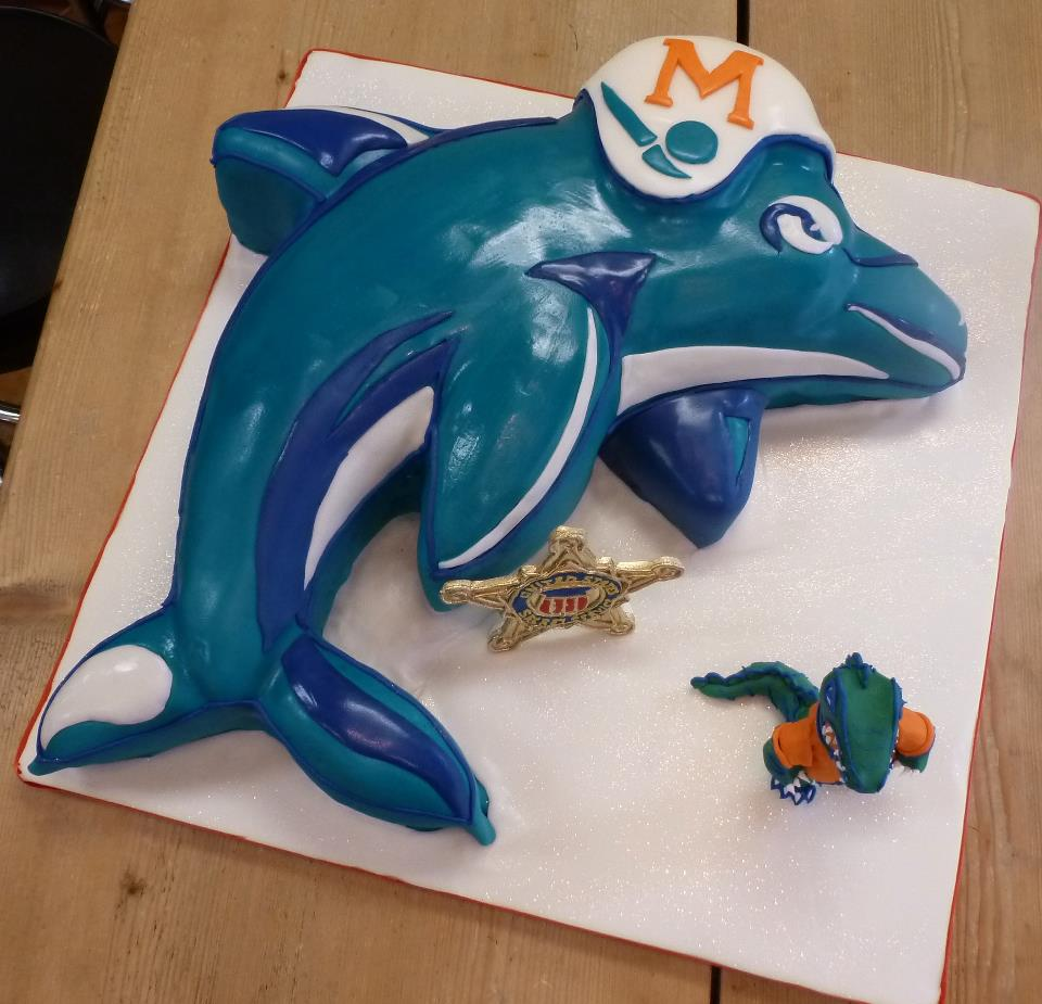 Miami Dolphins groom's cake