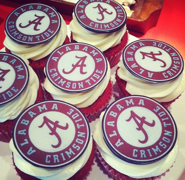 Alabama Crimson Tide Cupcakes