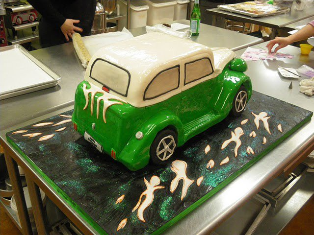 Antique Automobile Groom's Cake