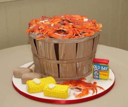 Maryland Crab Basket Groom's Cake