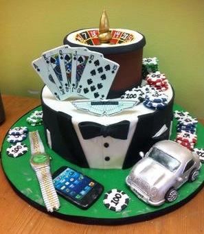 Man's fantasy cake