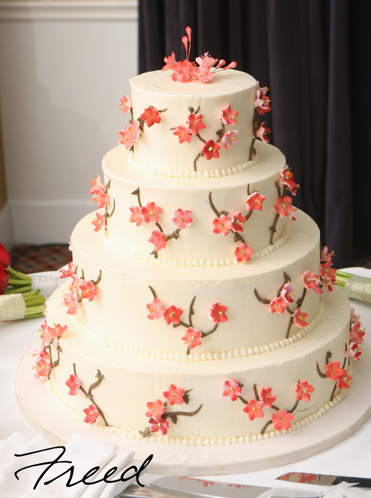 Wedding Cake with Orange Blossoms