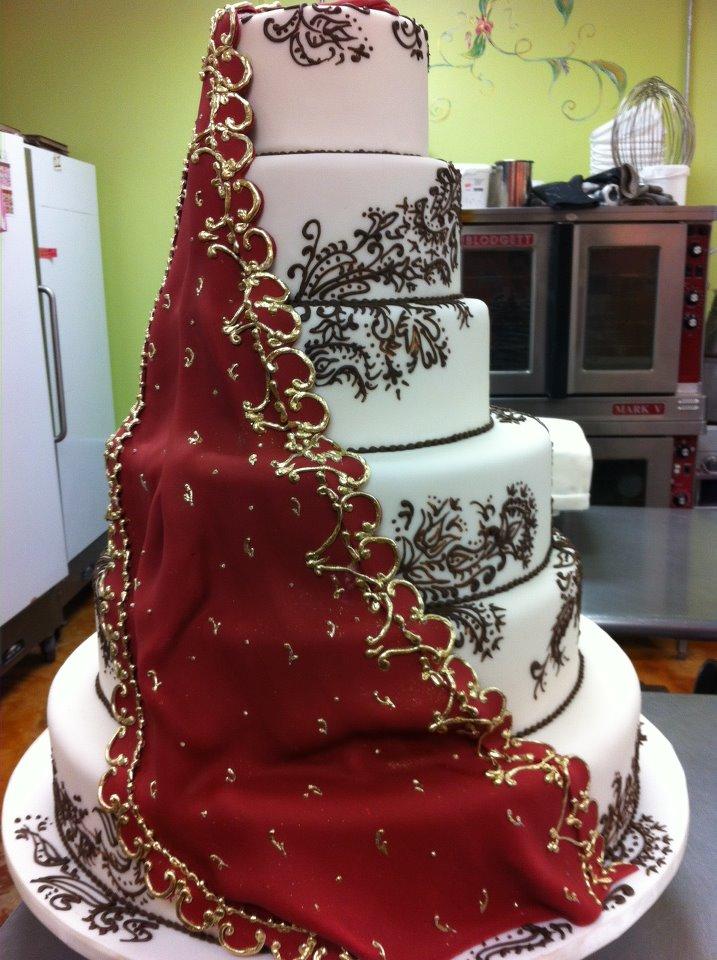 Henna Wedding Cake