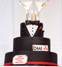 Tuxedo Martini cake by Freed Phtography