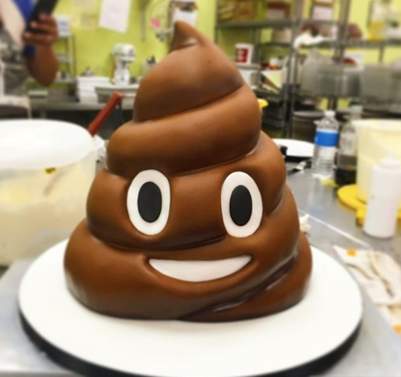 Poop emoji, Novelty Cake , brown, childrens, grooms cake