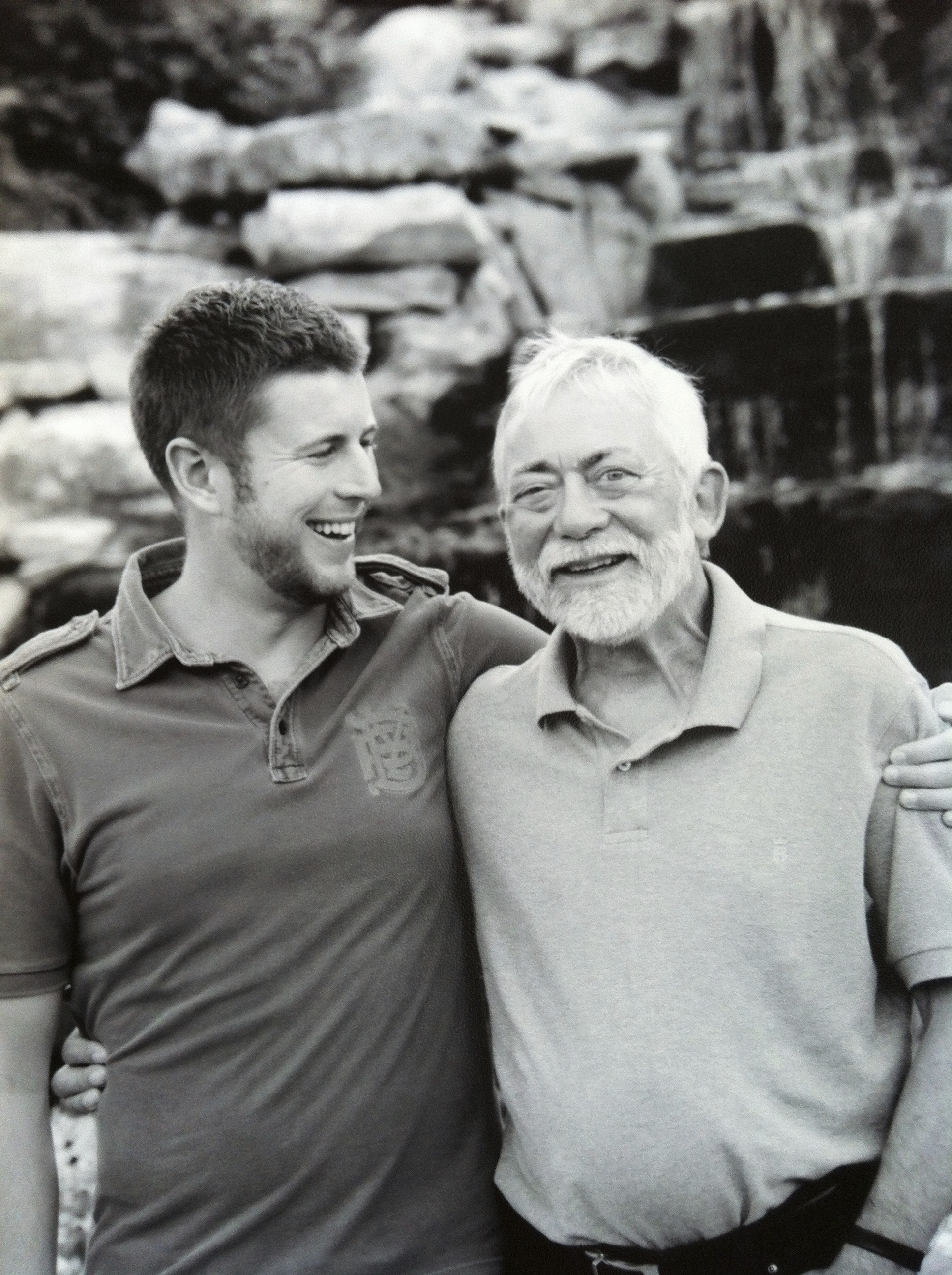 Thomas Daniel with Father, 2012