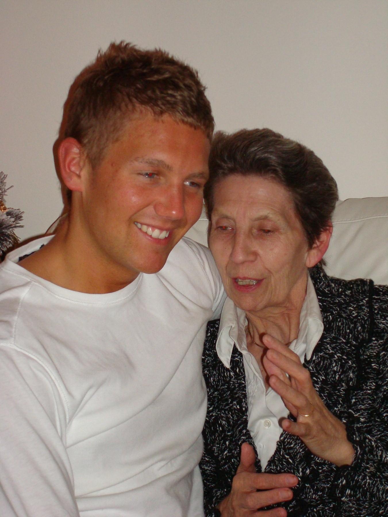 Robert Burns with Grandmother, 2007
