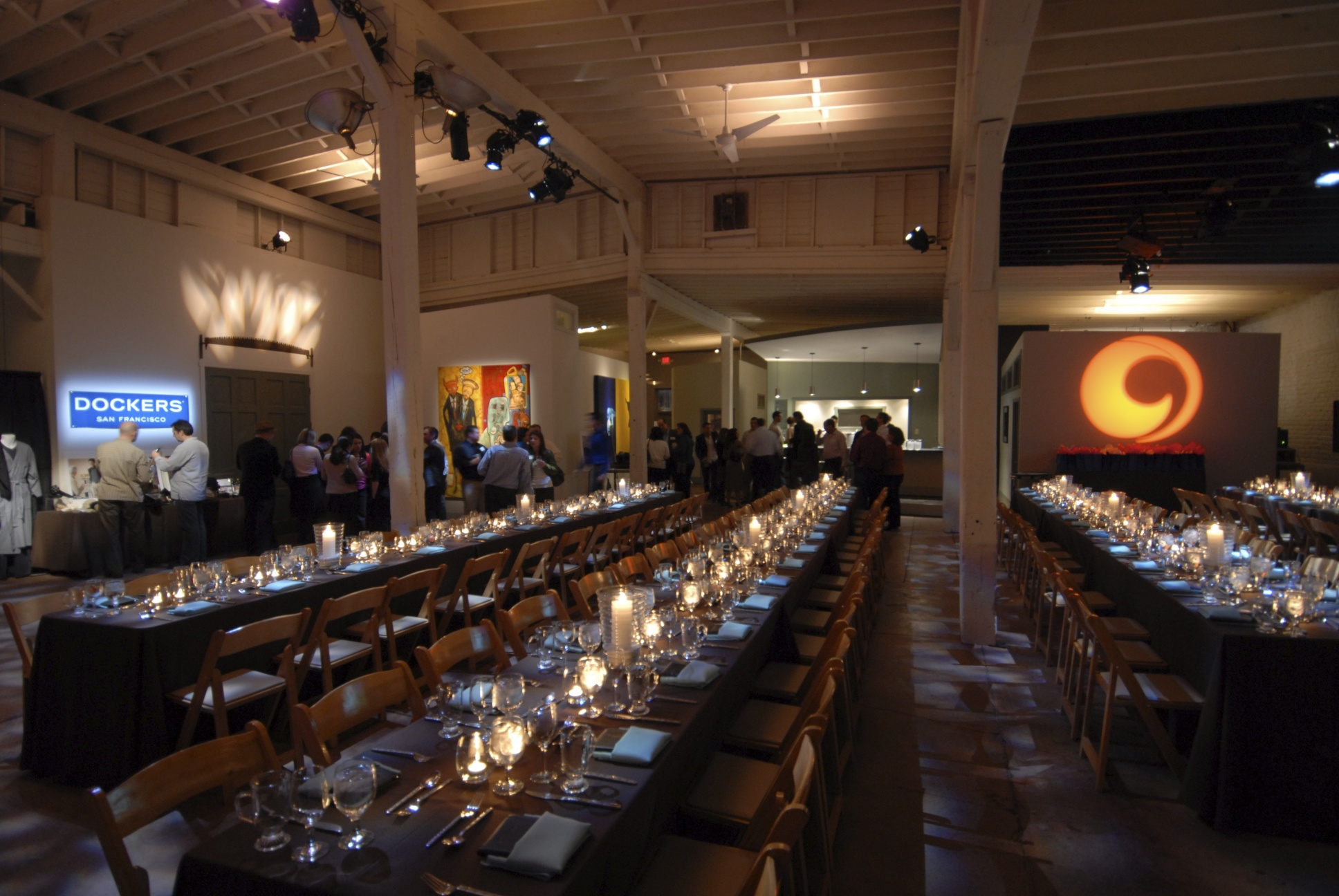 A corporate dinner...