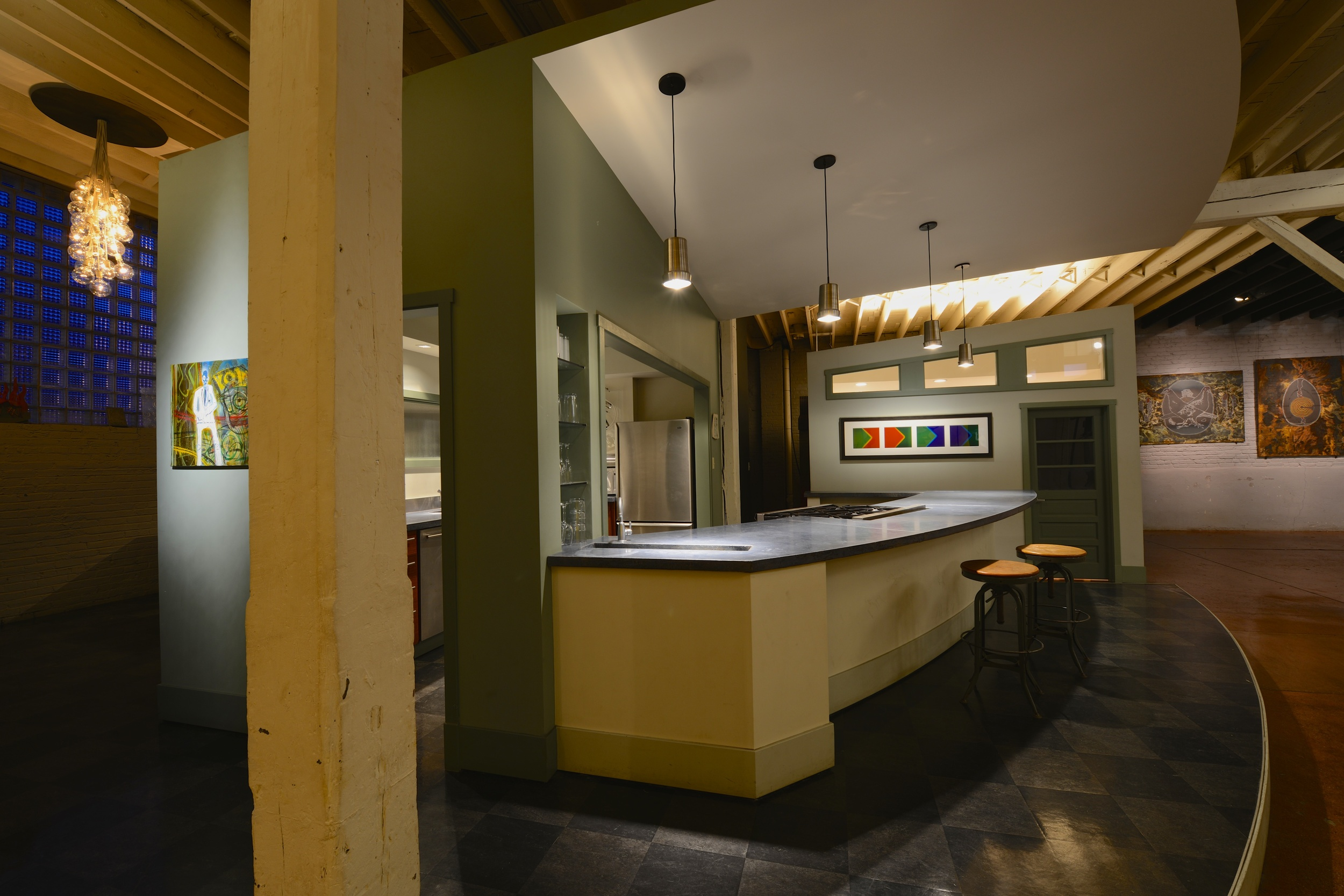 The Kitchen and Lounge...