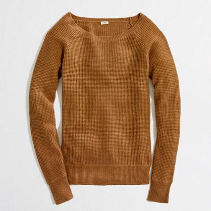 Waffle Crewneck Sweater