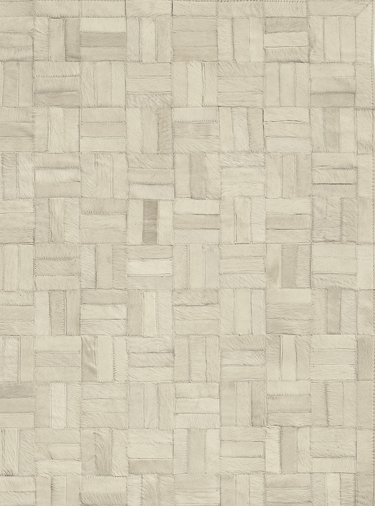Natural cowhide arranged in a graphic basketweave make this an interesting neutral. It's subtle but sculptural, casual yet chic. Stitched by hand, each rug has a fabulous one-of-a-kind look.    SERENA & LILY $695