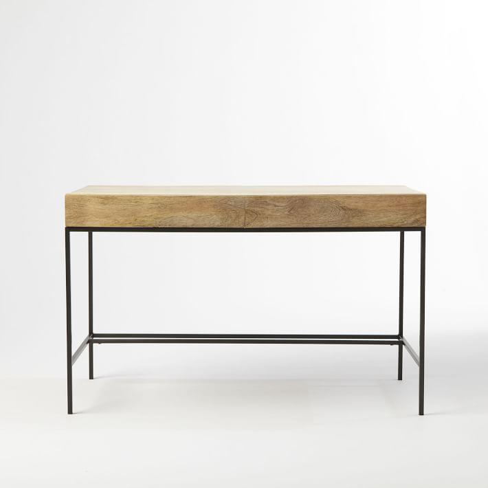 "Industrial Storage Desk 48"" x 24"" x 30""  WEST ELM $549"