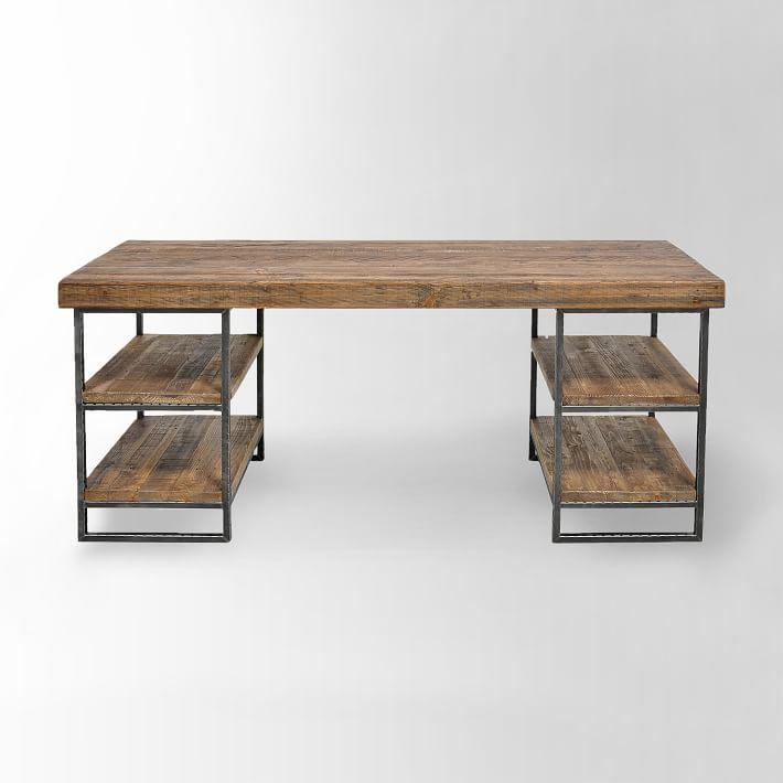 "Hewn Wood Desk 67"" x 23"" x 30""  WEST ELM $1199"