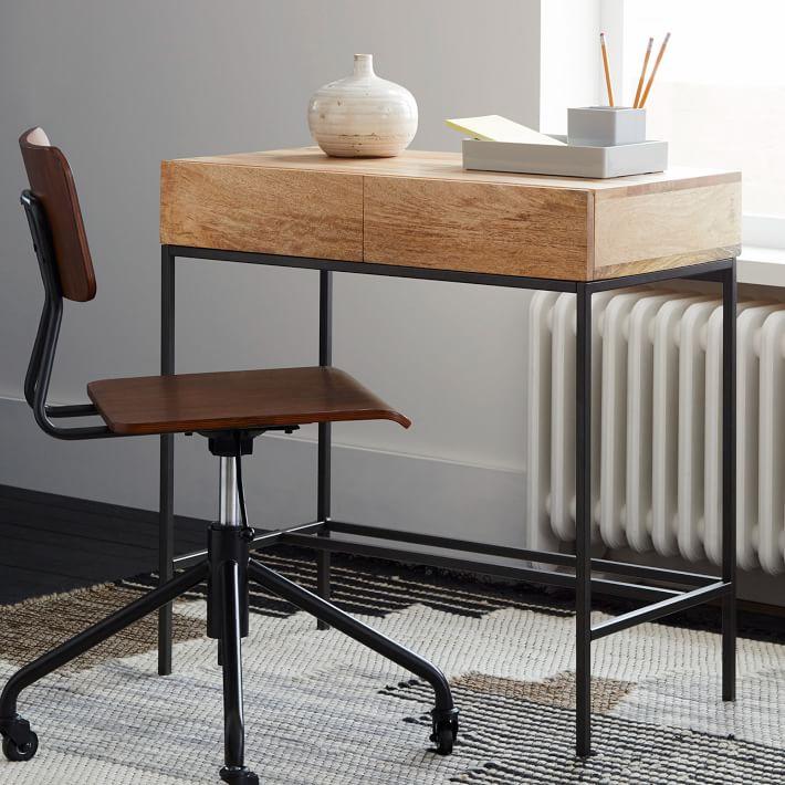"""Industrial Storage Mini Desk 30"""" x 18"""" x 30""""  WEST ELM $399"""