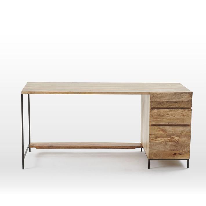"Industrial Modular Desk 64"" x 24"" x 31""  WEST ELM $899"