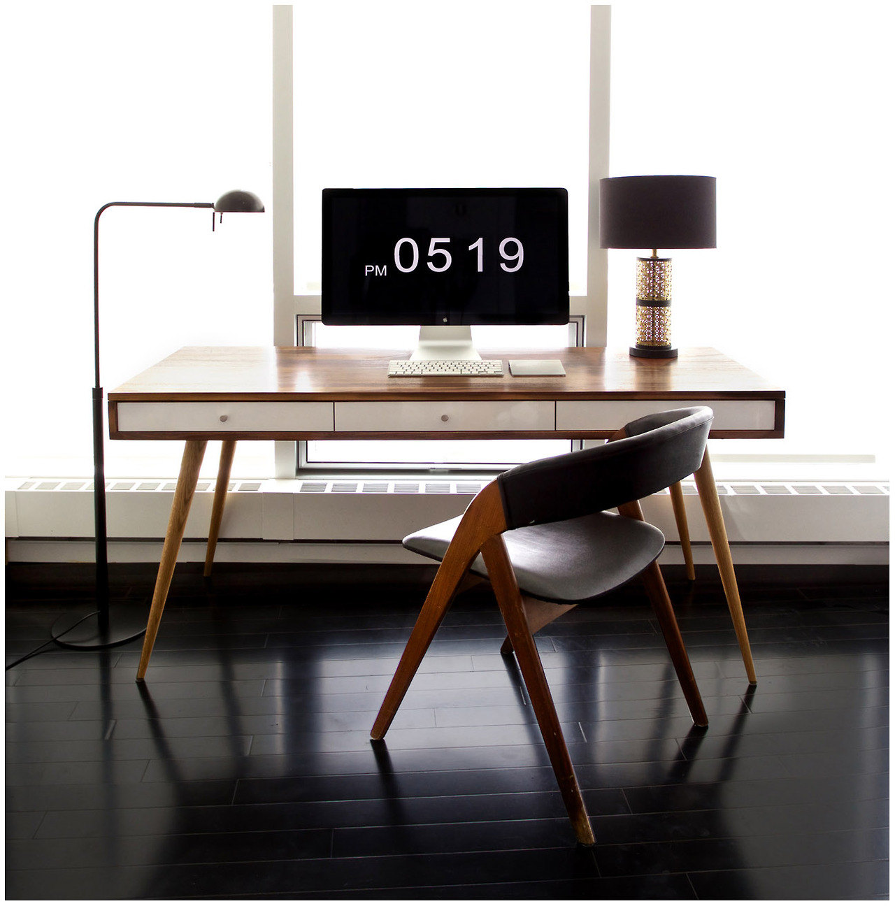 "Mid-Century Desk 48"" x 24"" x 29""  JEREMIAH COLLECTION $1750"