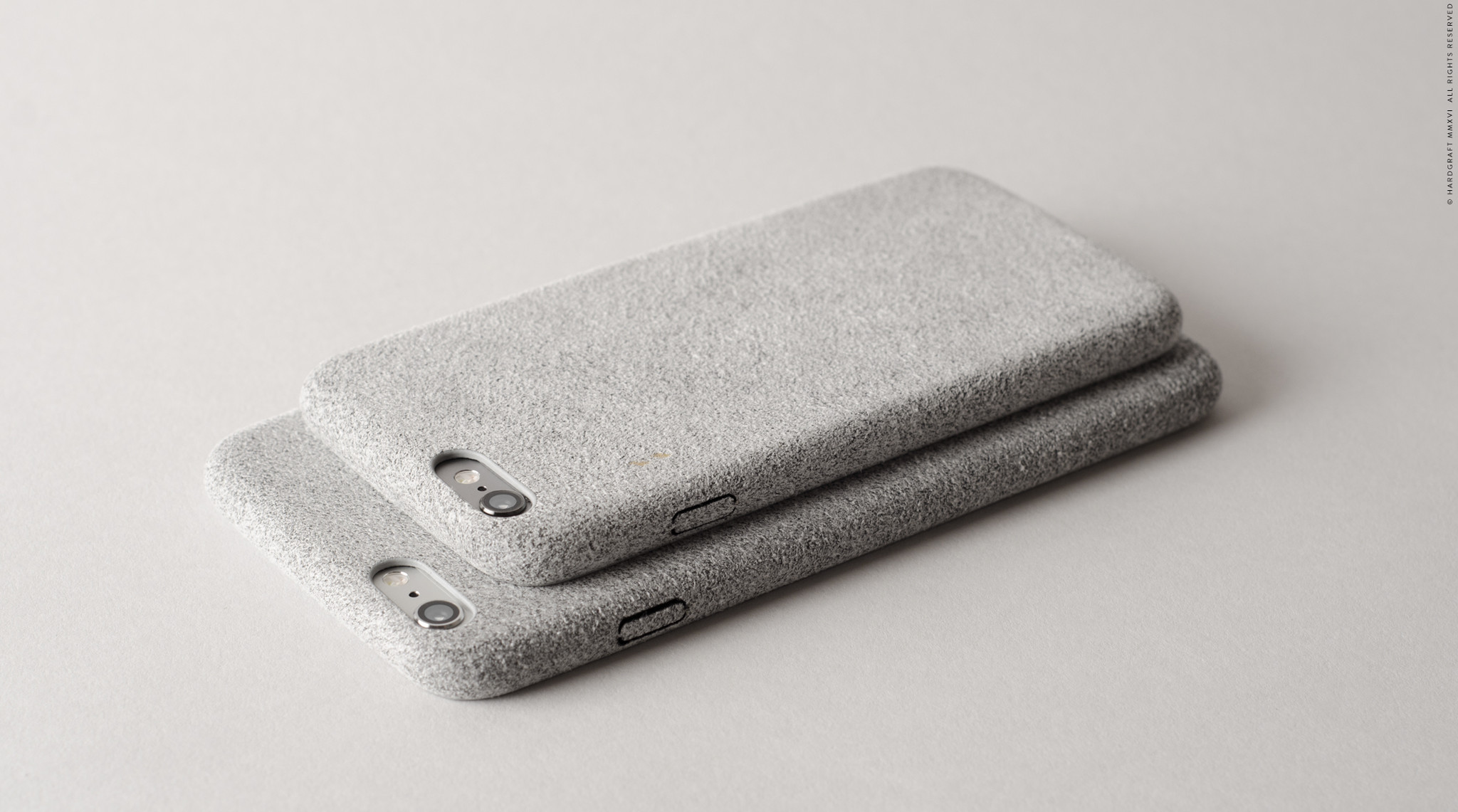 Fuzzy iPhone Cover   A protective iPhone cover with a soft and fuzzy suede-like material, a pliable construction that snaps securely to your iPhone.  HARD GRAFT $35