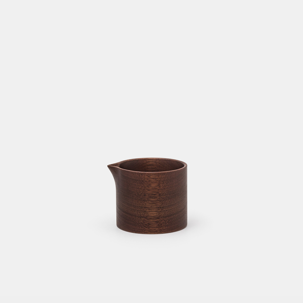 This beautiful creamer is designed and hand-crafted by Mitsugu Morita of Mogu-Kagu Studios based in Fukuoka, Japan. Carved from one-piece solid wood, featuring a uniquely shaped spout that allows for a precise, controllable flow; from a trickling drip to a steady continuous stream.  MITSUGU MORITA $42