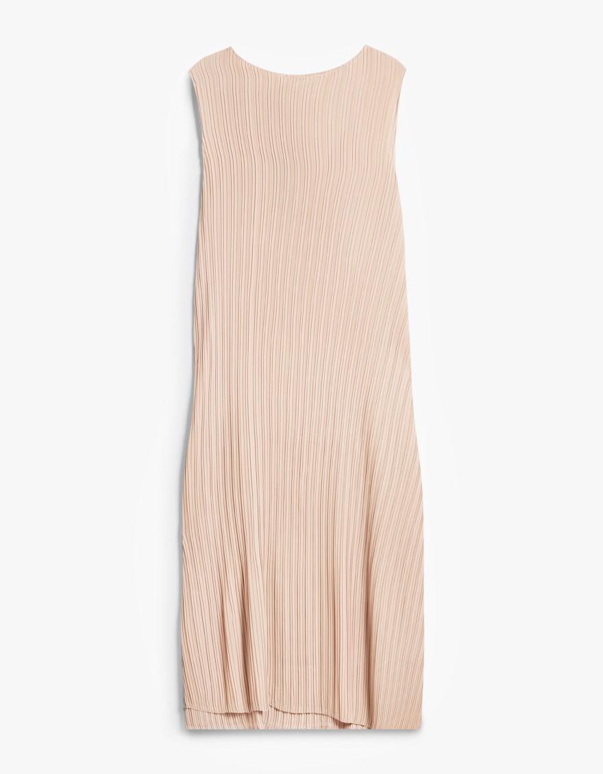 Knife pleat dress