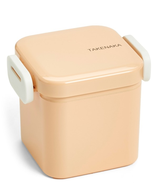 Sized for snacking, this beautiful Japanese-style bento box is hand painted in soft color and secured with an airtight locking lid, making it perfect for packing fruits, salads and other tasty treats.   TAKENAKA $18