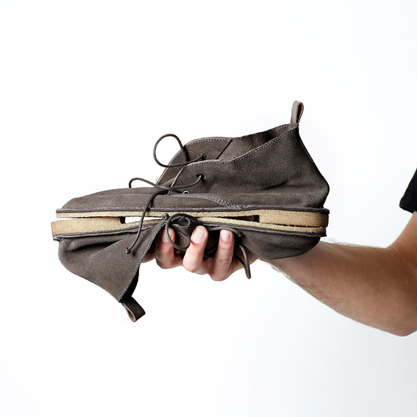 HOBES Men's Hobe  The suede is Italian and the shoe is all hand-stitched. The sole, produced from crepe rubber, is incredibly soft to walk on, yet ready for any terrain. Offering lightness, flexibility and versatility, you'll never want to take these guys off.