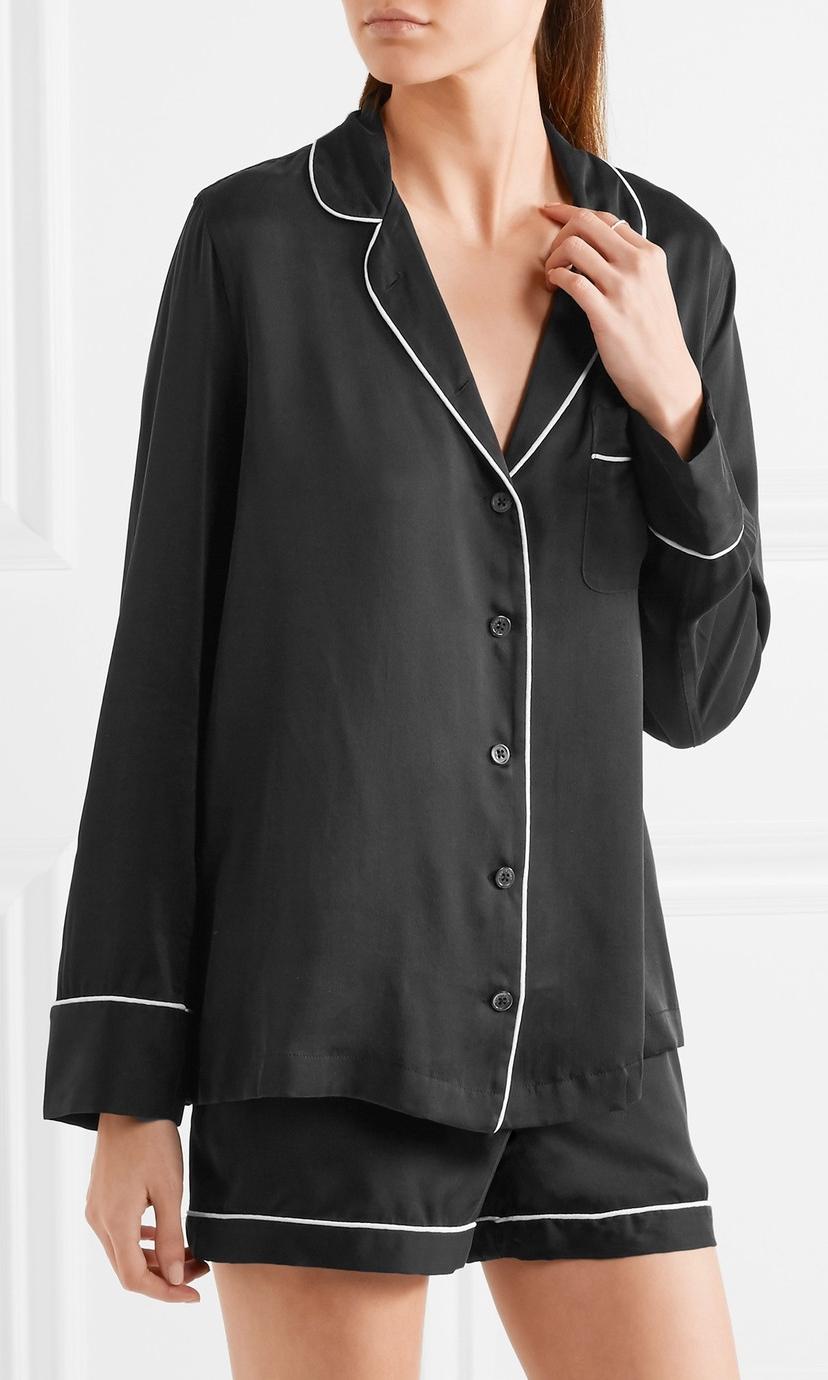 EQUIPMENT Washed Silk Pajama Set