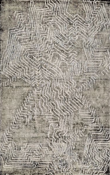 Tidal Graph Wool Rug WEST ELM