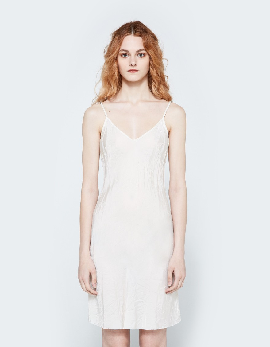Short Bias Slip in Vintage White