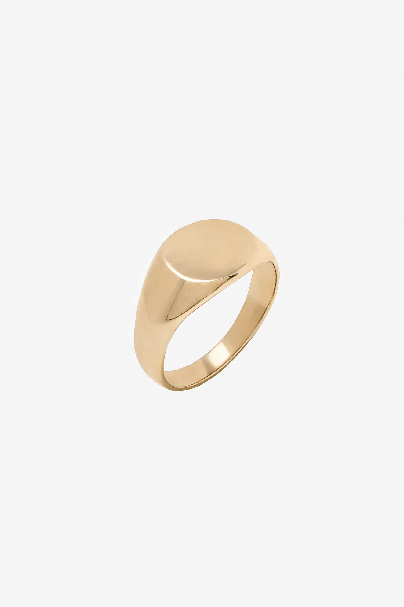 ANINE BING Pinky Ring  14K Yellow Gold with flat surface pinky ring.